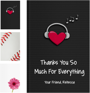 Personalized Thank You Gifts - LoveBook Covers